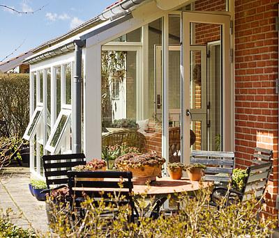 Ny udestue/havestue med nye Kastrup vinduer og termotag i Herning