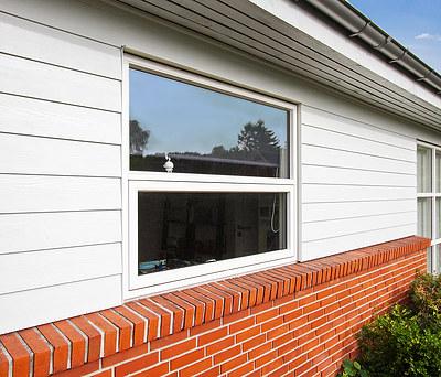 Nye vinduer fra Outline samt facaderenovering med Cembrit materialer i Greve nær København
