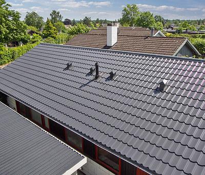 Nyt 156 m2 ståltag med Profilmetal tagplader i Farum nær