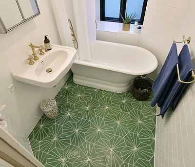 Nyt badeværelse lavet af JK Murerfirma på Østerbro i København