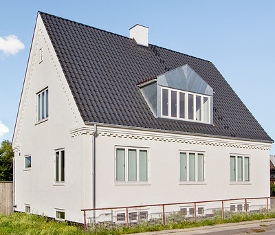 Nyt tag med Randers tegl og Plastmo tagrender i Kastrup nær København